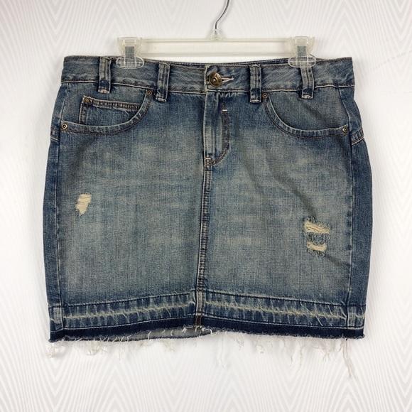 Dkny Dresses & Skirts - DKNY Distressed Jean Skirt